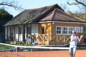 St Mary's Tennis clay courts and clubhouse